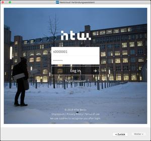 Nextcloud Loginmaske
