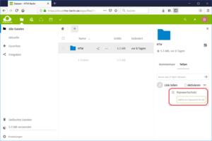 Nextcloud Link teilen Passwort festlegen