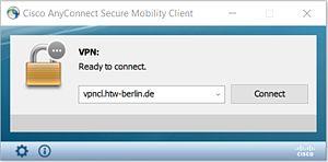 Cisco Anyconnect Verbindungfenster