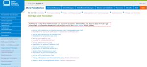 Weitere Funktion - PDF Antragsformulare