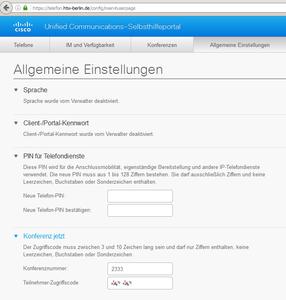 Telefon-Webseite