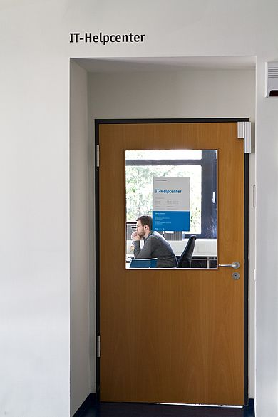 Door to the IT help center