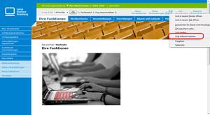 """Link-Adresse des """"iCal Export"""" kopieren"""