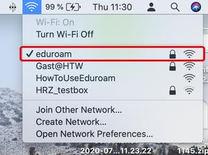 Connect to eduroam