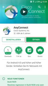 Google Playstore App installiert