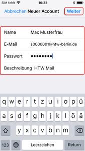 E-Maileinstellungen