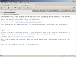 Bestätigungs E-Mail
