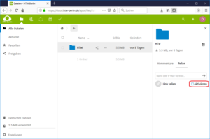 Nextcloud Link teilen aktivieren