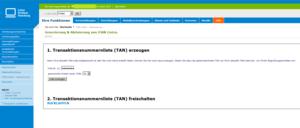 iTAN-Liste erstellen