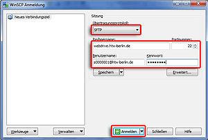 WINSCP Servereinrichtung