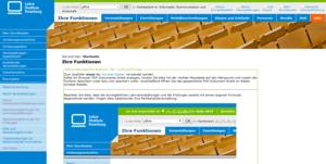 Startseite von LSF nach der Anmeldung