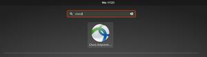 Suche mit Cisco Anyconnecticon